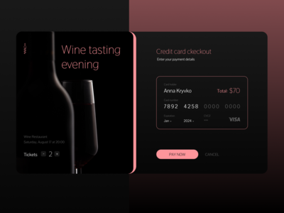 Daily UI #002 - Event check out