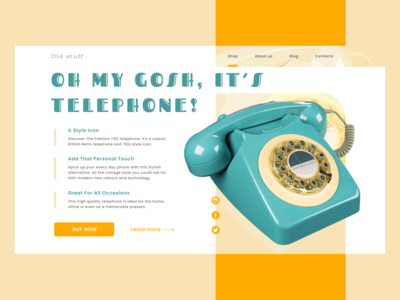 Daily UI #003 - Retro phone landing page