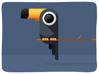 Vector Toucan toccotoucan flat character animal bird illustration vector toucan