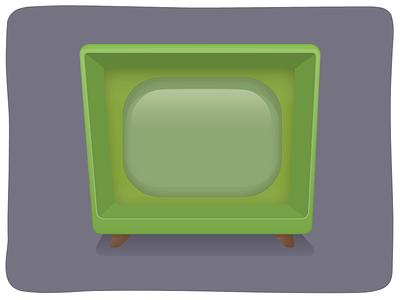 Retro TV Icon retro tv art illustrator