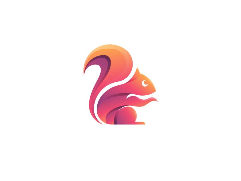 Squirrel Logo Concept logotypes concept branding vector modern logo design logo 3d logo flat icon graphic design gradient color illustration design