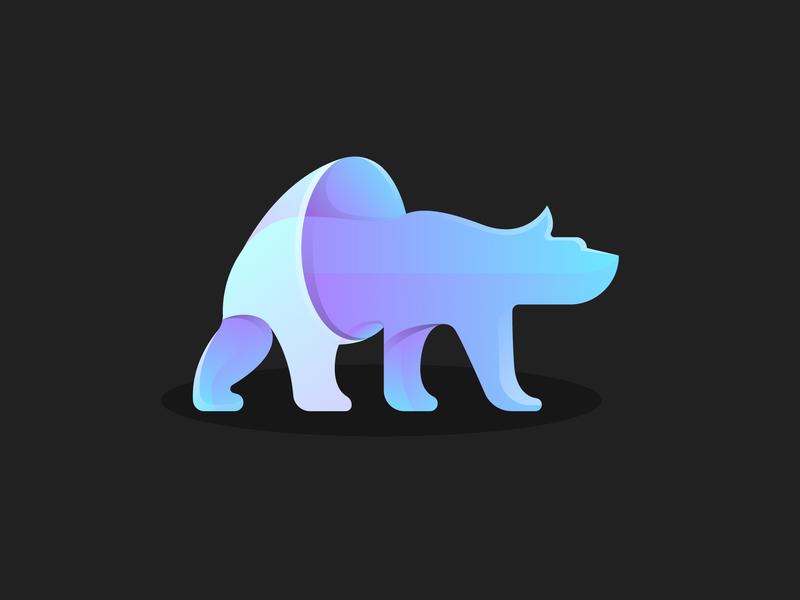 Bear Logo Concept logotype concept branding vector modern logo design logo 3d icon logo graphic design gradient color illustration design