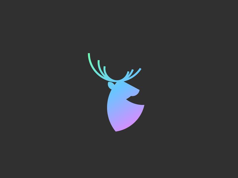 Deer Minimalist Logo logotypes logotype vector graphic design gradient color concept branding modern logo design logo illustration icon design