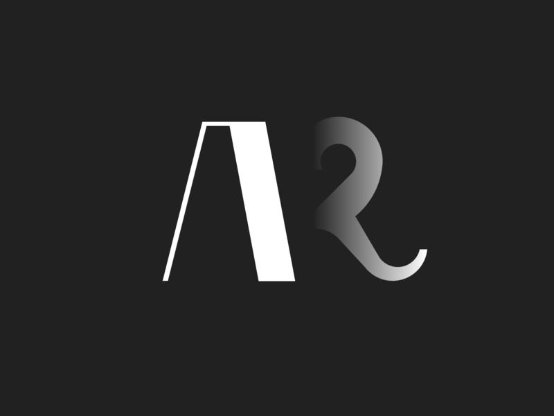 A + R Logo typography letter alphabet mark monogram logotypes logotype logo 3d flat vector graphic design branding concept modern logo design logo icon design