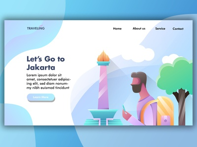 Landing Page : Let's Go to Jakarta