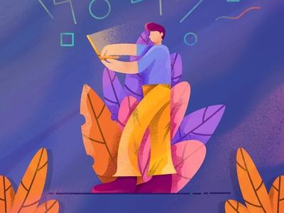 Hard Worker illustration