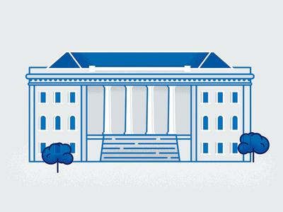 TXWES Building Illustration building university illustration