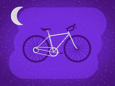 Bike DreamzZz purple illustration space dreams bike