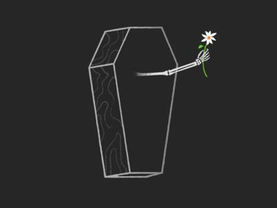 """Death was begging for your company."" skeleton death music art illustration"