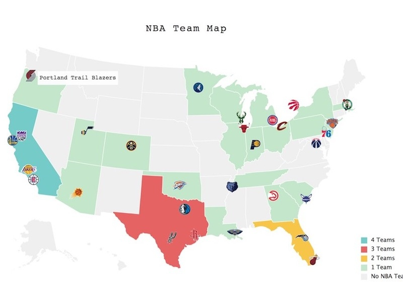 NBA Team Map by Tica Lin | Dribbble | Dribbble