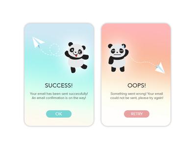 Daily UI - 011 Flash Message (Error/Success)