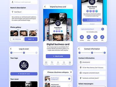 Repito App. Digital Business Card business digital business card ux ui website web gradient app interface inspiration mobile clean app design crm app crm