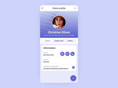 Repito App. New Loyalty Card profile client customer crm ux ui motion graphics motion prototype interaction animation card gradient clean inspiration app interface mobile app design