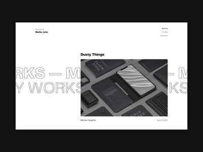 🔈 Sound ON! Portfolio website design minimal gif web design design ux ui animation after effects scroll tutorial animation webdesign web sketch tutorial portfolio