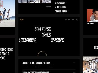 Fultless - Just a little typo / layout / animation experiment type studio agency portfolio after effect principle typogaphy minimalism web design animation design ux ui web