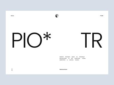 Portfolio Concept user inteface user experience interaction portfolio design portfolio website font typogaphy typo designer figma principle aftereffects layout web design animation portfolio ux ui