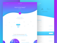Careers page for web design agency