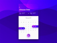 Choose Date iOS App Pattern