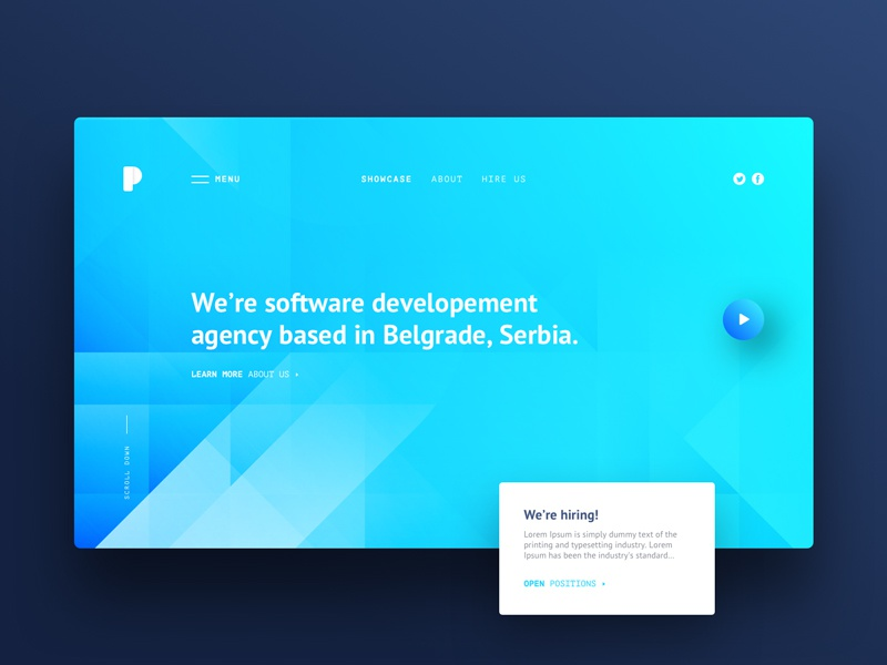 Software Development Agency Web Design By Marko Jotic On Dribbble