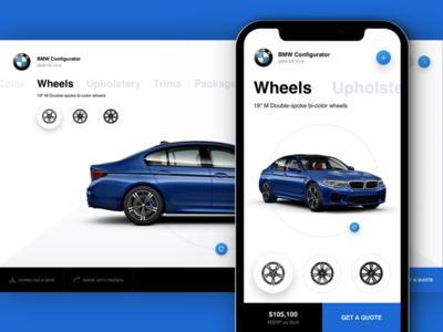 B - BMW Configurator ios bmw configurator car app web design web ux ui