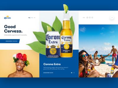 C - Corona landing page design layout ux ui web design web beer corona