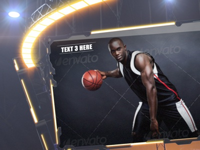 Arena Star Jumbotron sports jumbotron screen videohive template after effects video highlights