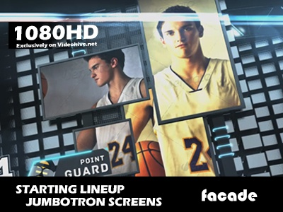 Starting Lineup Jumbotron videohive template jumbotron placeholder after effects motion graphics basketball hockey starting lineup