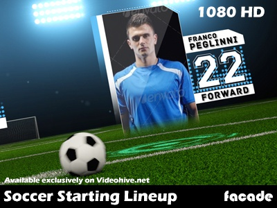 Soccer Starting Lineup videohive after effects template motion graphics soccer futbol football pitch starting lineup team