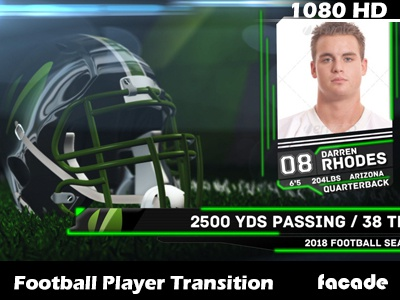 Football Player Headshot Transition videohive after effects template motion graphics sports headshot transition football helmet lower thirds design