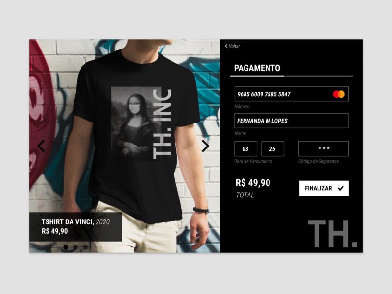 Credit Card Checkout - Daily UI #002 streetwear web uxdesign ux ui dailyui002 dailyui branding