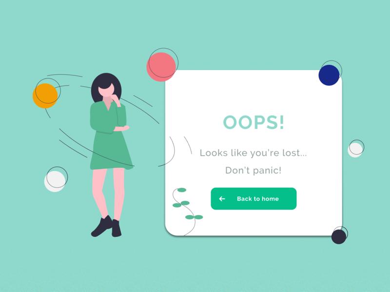 404 Page - Daily UI Challenge #008 dailyui 008 dailyui undraw notfound 404 error 404page design web uxdesign ui