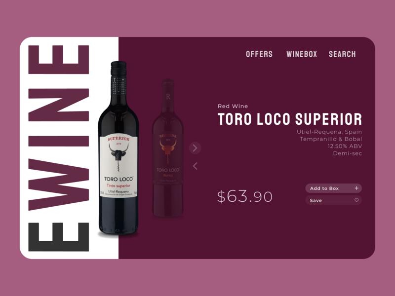 E-Commerce Shop (Single Item) - Daily UI Challenge #012 design items shop ecommerce wine challenge daily ui uxdesign ui
