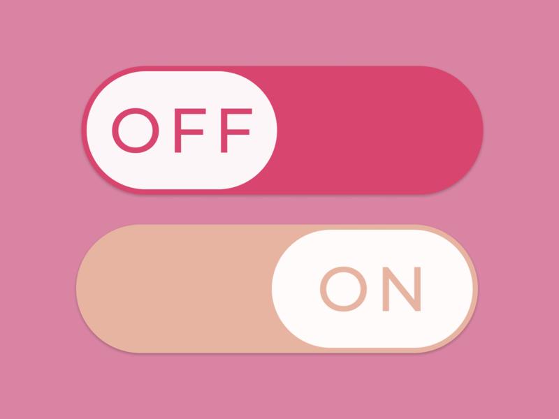 On/Off Switch - Daily UI Challenge #015 figma dailyui015 on off on off switch switch dailyui uxdesign ui
