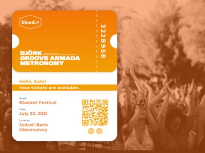 Email Receipt - Daily UI Challenge #017 dailyui017 music bluedot festivals tickets email receipt design dailyui uxdesign ui