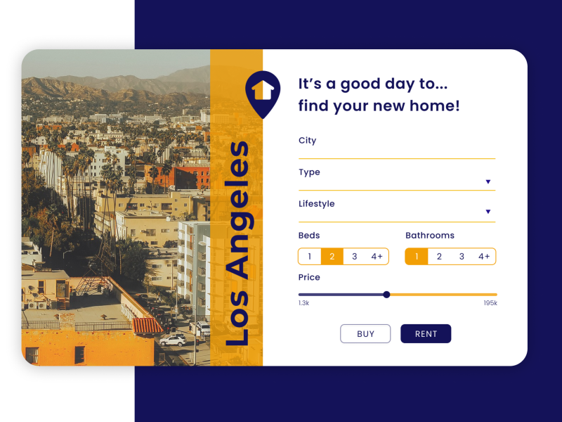 Search - Daily UI Challenge #022 webdesign website design los angeles advanced search search real estate ui ux
