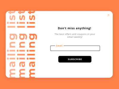 Subscribe - Daily UI Challenge #026 mailing list subscribe dailyui026 webdesign web ui ux design uxdesign ui dailyui