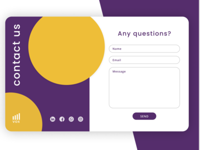 Contact Us  - Daily UI Challenge #028 web design form contact us contact ui uxdesign ui ux dailyui