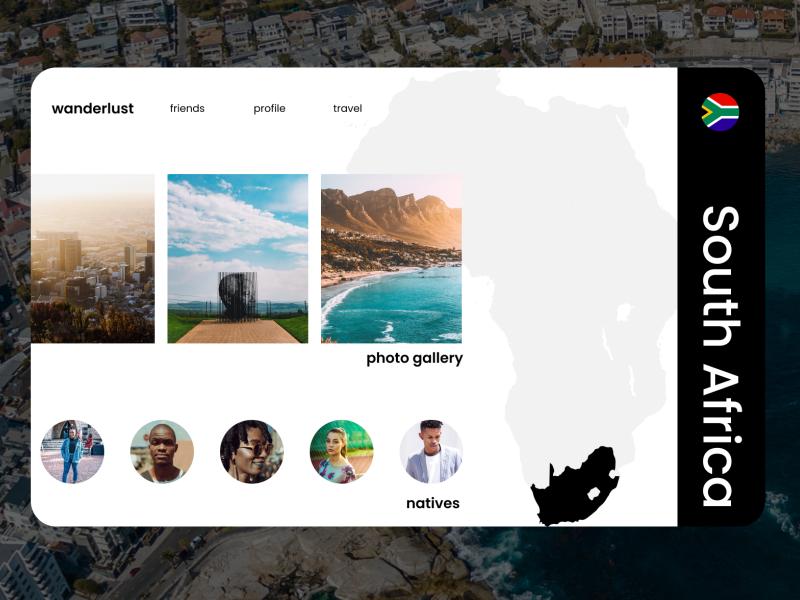 Map - Daily UI Challenge #029 webdesign design wanderlust southafrica web ux ui travel
