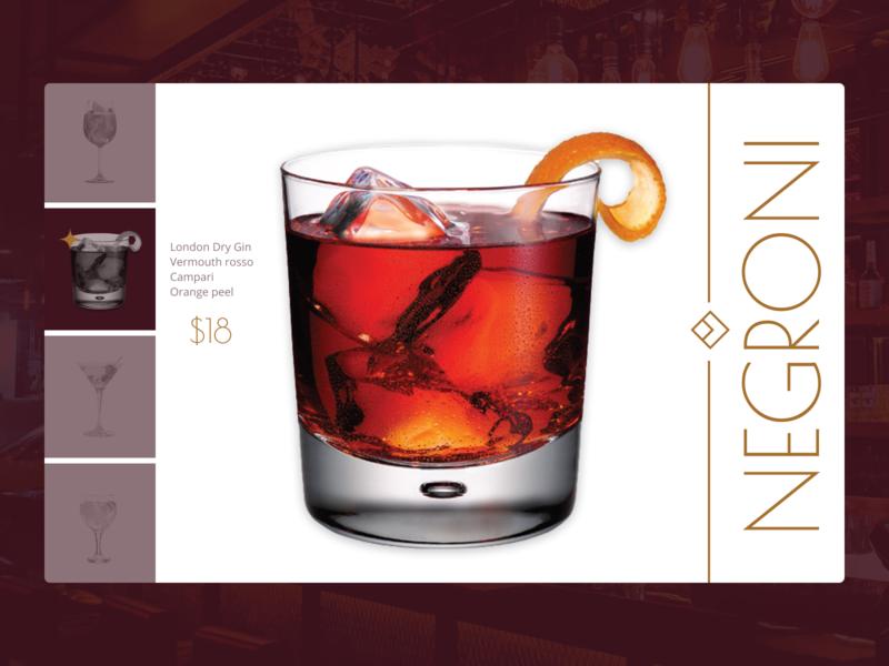 Drink Menu dailyui043 dailyui menubar bar pub drink menu drinks menu ui design uiux ui