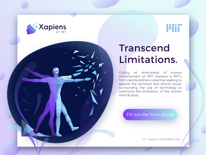 Xapiens Introduction design vector dna human body 2d poly logo mit vitruvian web illustration branding