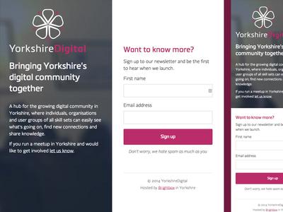 YorkshireDigital Holding Page