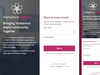 YorkshireDigital Holding Page
