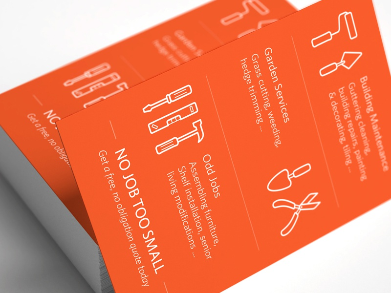 Handyman Business Card Back by Lynden Oliver Dribbble