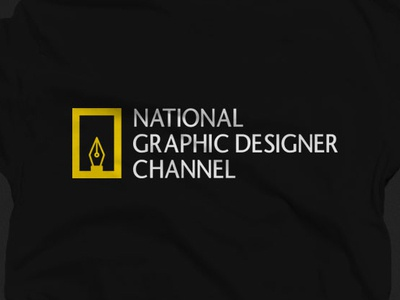 Graphic Designer Shirt - National Geographic logoinspiration logos memes minimalist brand brandinglogo graphicdesign tshirt logodesign logo