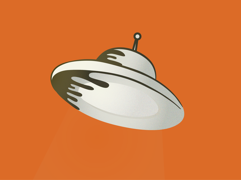 Invisible UFO flying into an oil spill vector illustration oil spill ufo