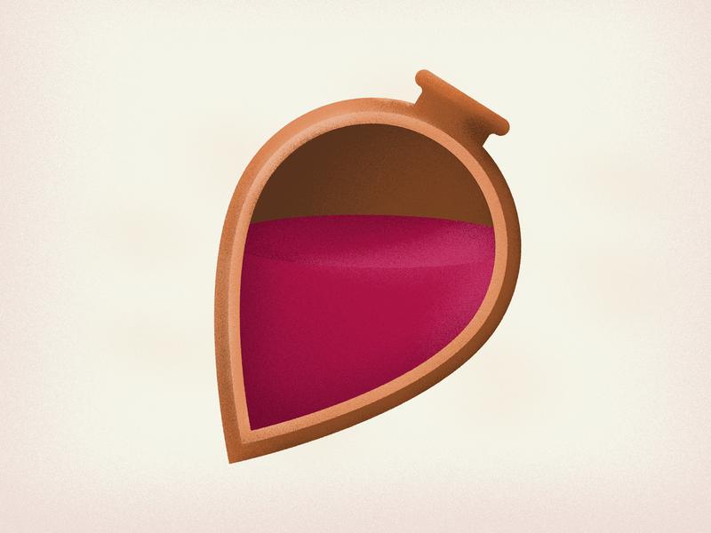 Qvevri red wine georgian kvevri wine qvevriwine satsnakheli chacha georgianwine graphicdesigner forset visualization vector icon design illustration