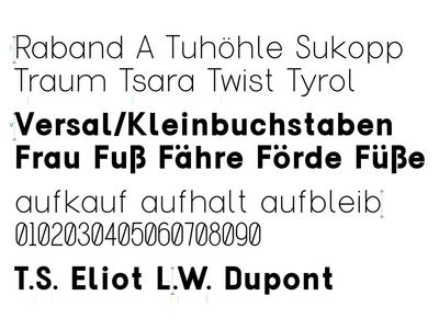 Typeface, October 17 glyphs typeface