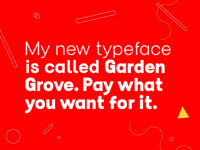 SW Garden Grove typeface