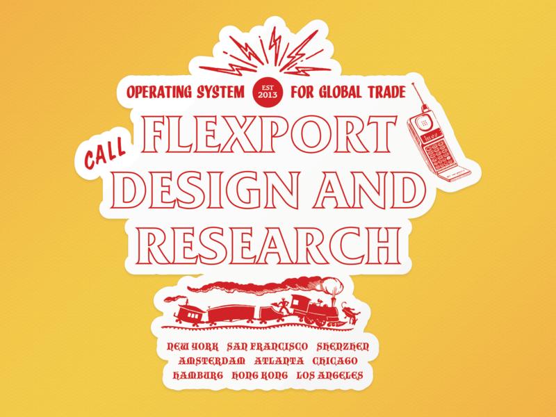 Flexport Design & Research sticker