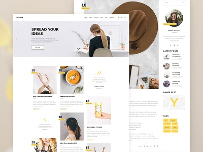 Vakker - Blog magazine wordpress themes clean modern typography web ux ui flat website type design